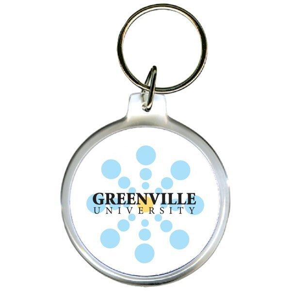 Round Acrylic Key Tag
