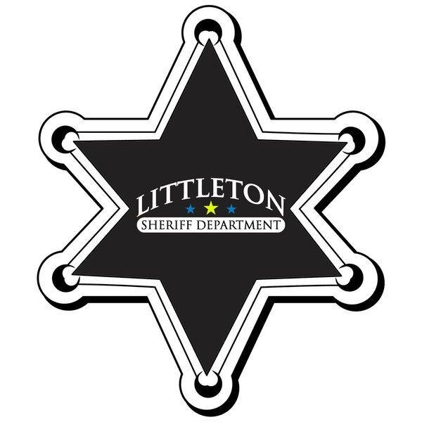 Sheriff Star Badge Magnet, Full Color