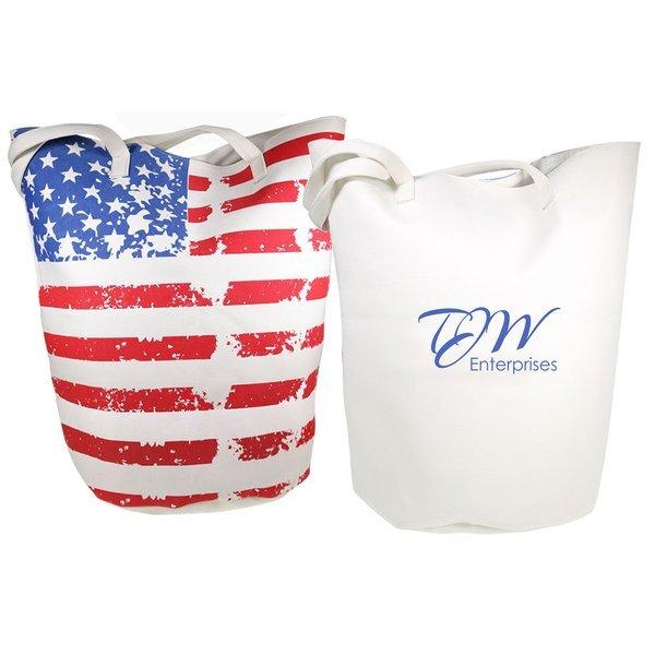Stars & Stripes Jumbo Canvas Bucket Bag