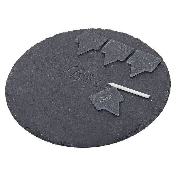 Six-Piece Slate Cheese Board Serving Set