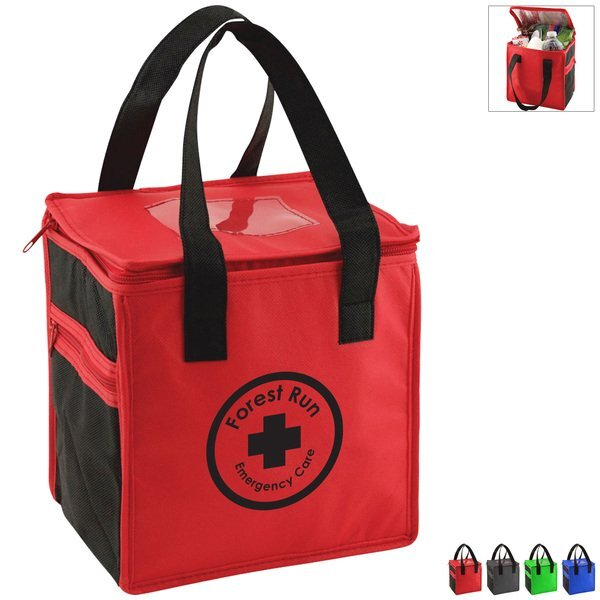 Two-Tone Cubic Non Woven Lunch Tote