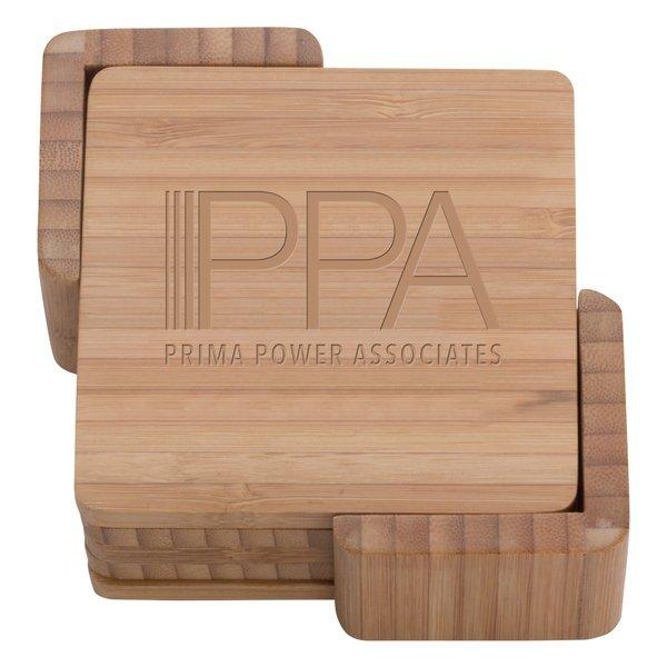 Square Bamboo Coaster Set