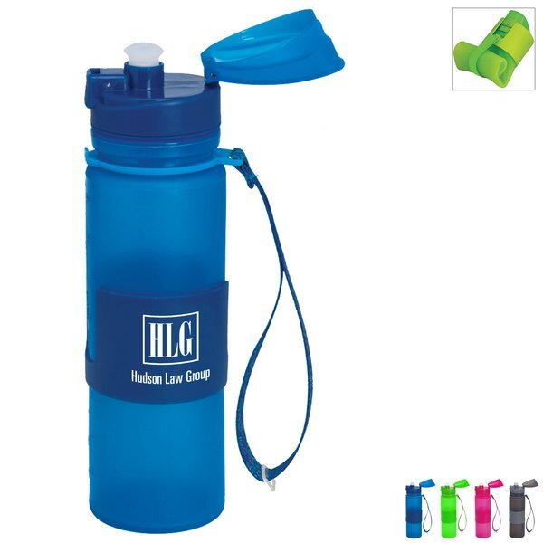 Foldable Silicone Travel Bottle, 20oz.
