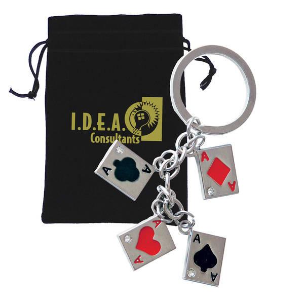 Four Aces Charm Keychain