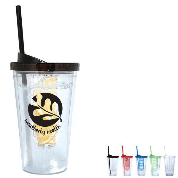 Fruit Infuser Acrylic Tumbler, 17oz.