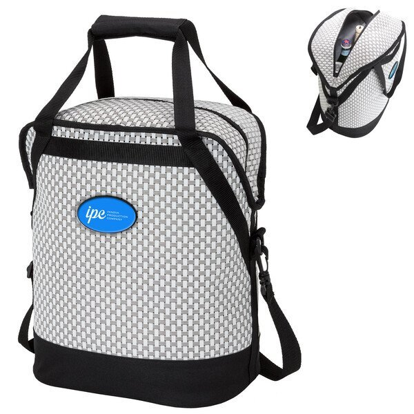 Woven Mesh Oval 20-Can Cooler Bag