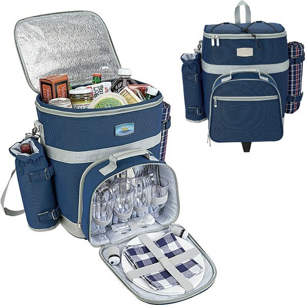 Central Park 4 Person Trolley Picnic Cooler Set