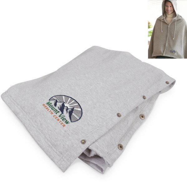 Game Day Hooded Blanket™, Embroidery