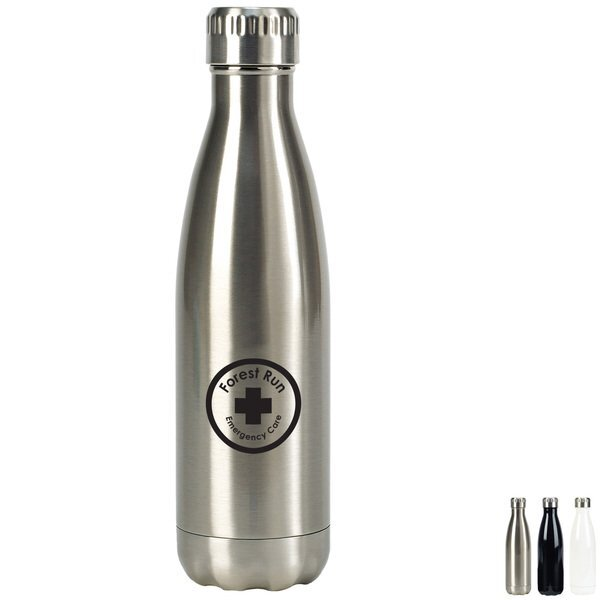 Oasis Double Wall Stainless Steel Vacuum Insulated Bottle, 17oz.