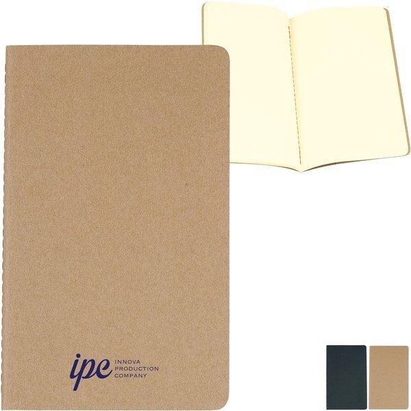 "Moleskine® Cahier Plain Large Notebook, 5"" x 8-1/4"""