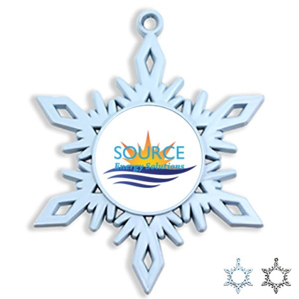 Snowflake Die Cast Holiday Ornament