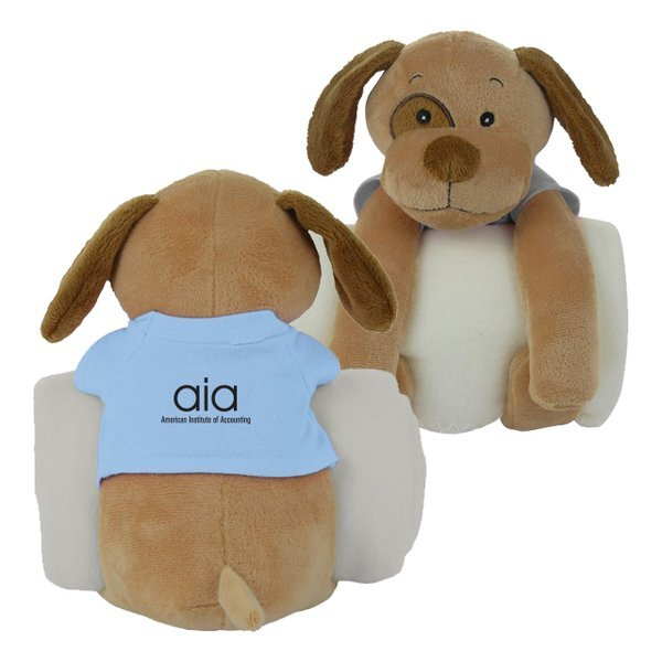 Plush Dog Cuddler w/ Blanket