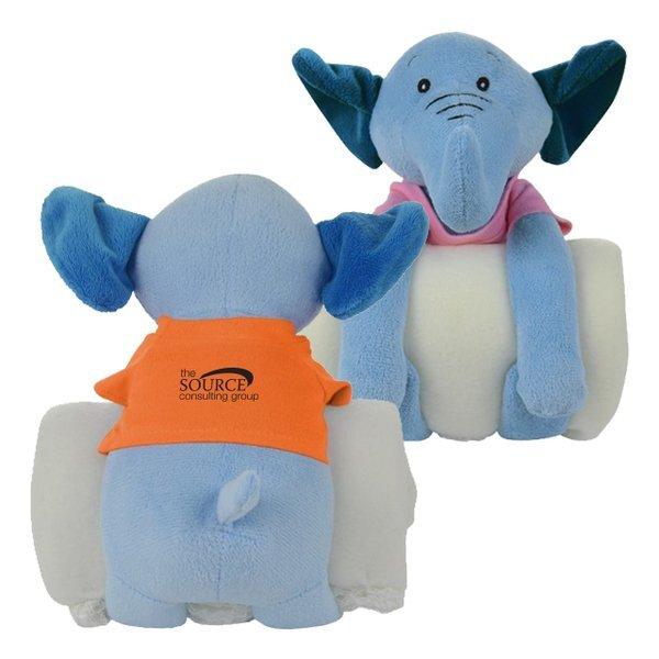 Plush Elephant Cuddler w/ Blanket