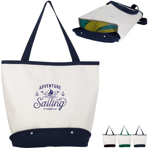 Sand Sifter Cotton Canvas Beach Tote Bag