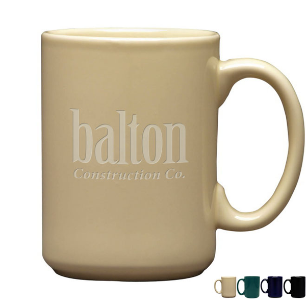 Etched Atlas Mug, 15oz.
