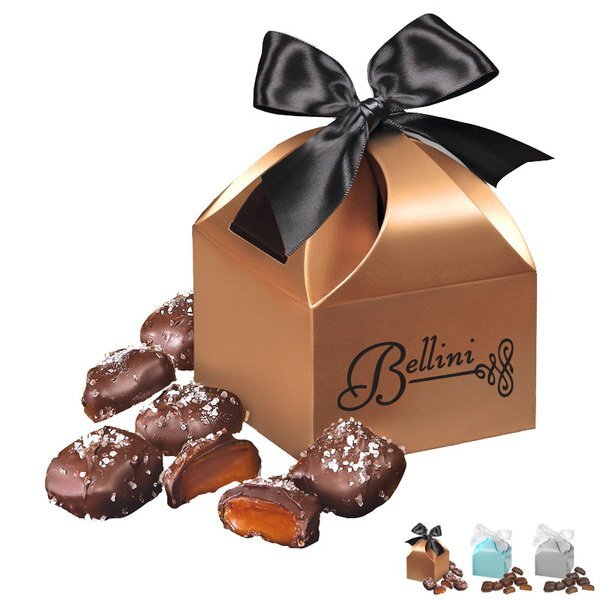 Chocolate Sea Salt Caramels in Domed Gift Box