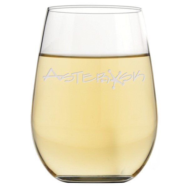 Riedel® 'O' Series Riesling Stemless Wine Glass, Deep Etched, 13-1/4oz.