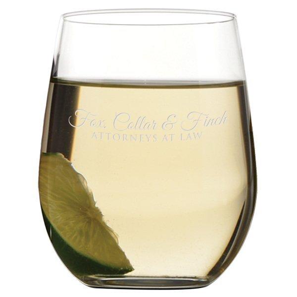 Riedel® 'O' Series Chardonnay Stemless Wine Glass, Deep Etched, 11-1/4oz.