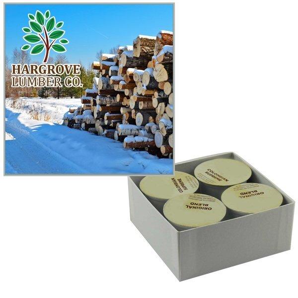 Custom Coffee Cups Box, 4-Pack