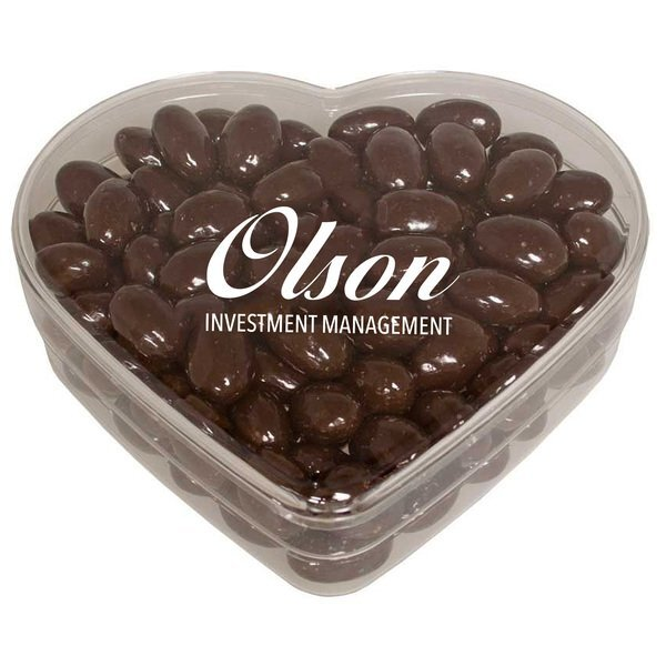Heart Candy Container - Chocolate Covered Almonds