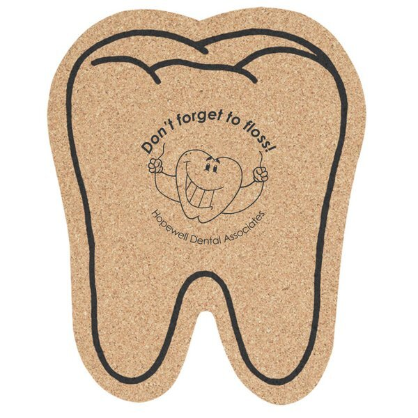 Tooth Cork Coaster, 5-1/2""
