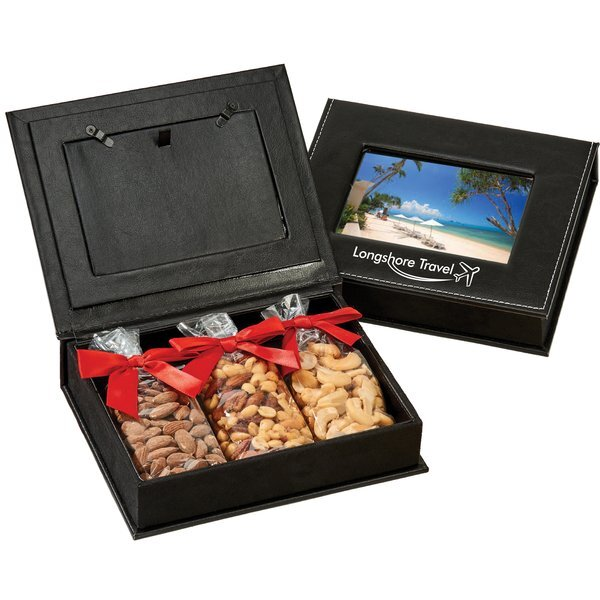 Picture Frame Keepsake Box w/ 3 Bags of Nuts