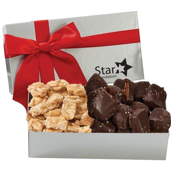 Executive Box w/ Sea Salt Caramels & Peanut Crunch Squares