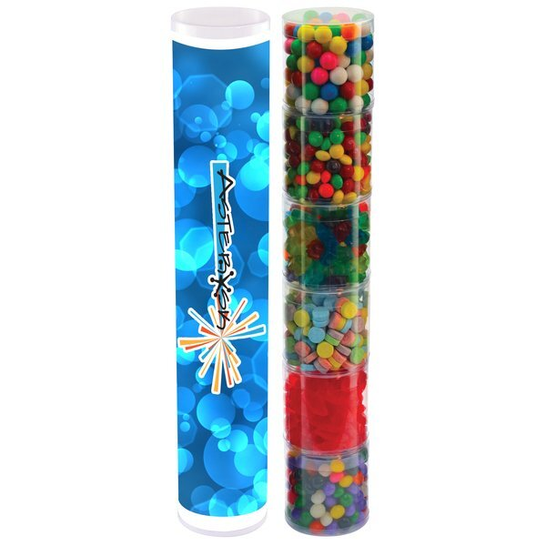 Six Tube Stack of Assorted Candy