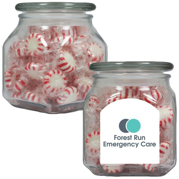 Starlite Mints in a Medium Square Apothecary Jar