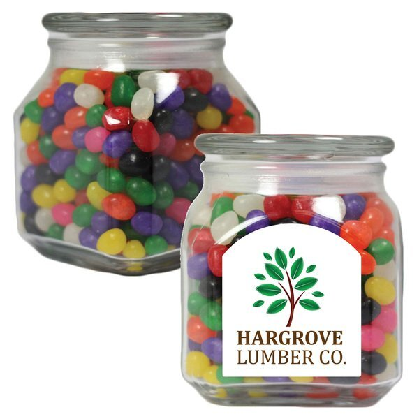 Jelly Beans in a Medium Square Apothecary Jar