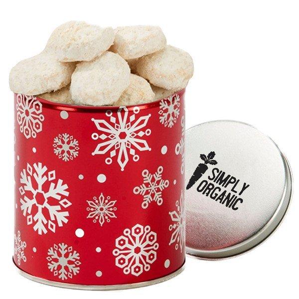 Quart Tin with Almond Tea Cookies