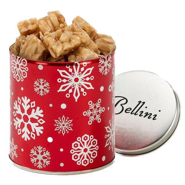 Quart Tin with Peanut Crunch Squares