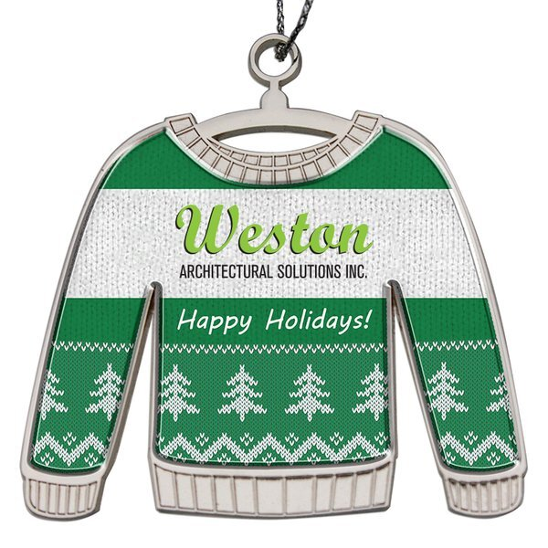 Ugly Sweater Die Cast Holiday Ornament