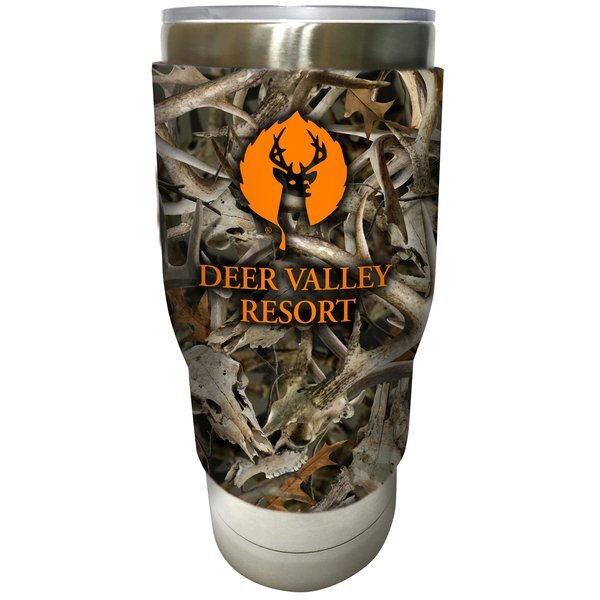 Pro Stainless Steel Vacuum Tumbler with Comfort Grip Sleeve, 32oz. w/ Full Color Imprint