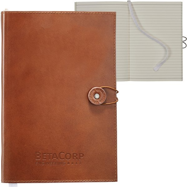 "Alternative® Leather Bound Journal, 5-2/3"" x 8-1/2"""