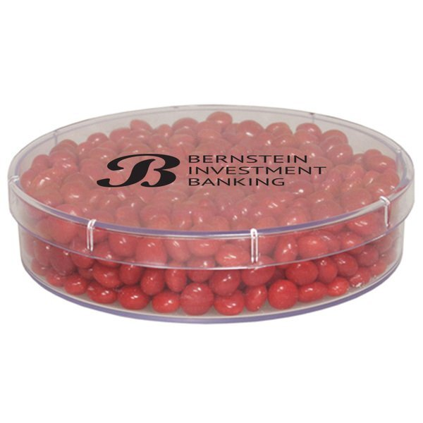 Red Hots in Large Round Candy Container