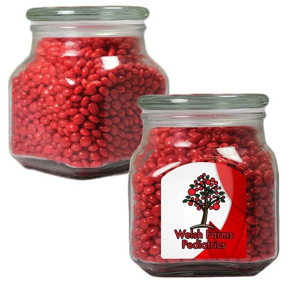 Red Hots in a Large Glass Apothecary Jar