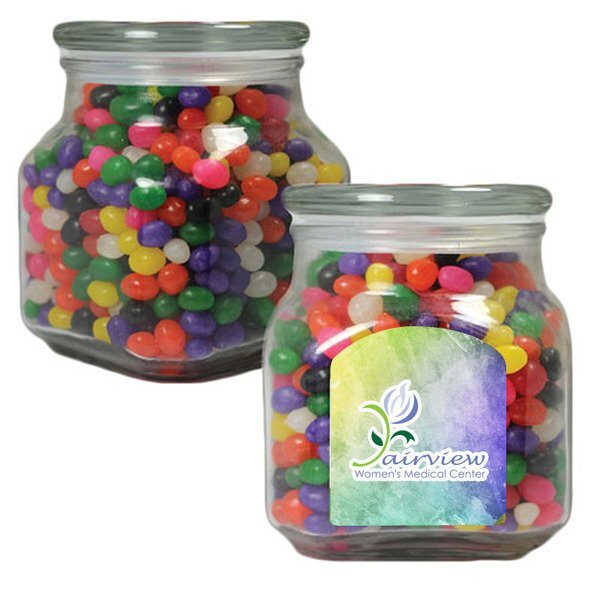Jelly Beans in a Large Glass Apothecary Jar