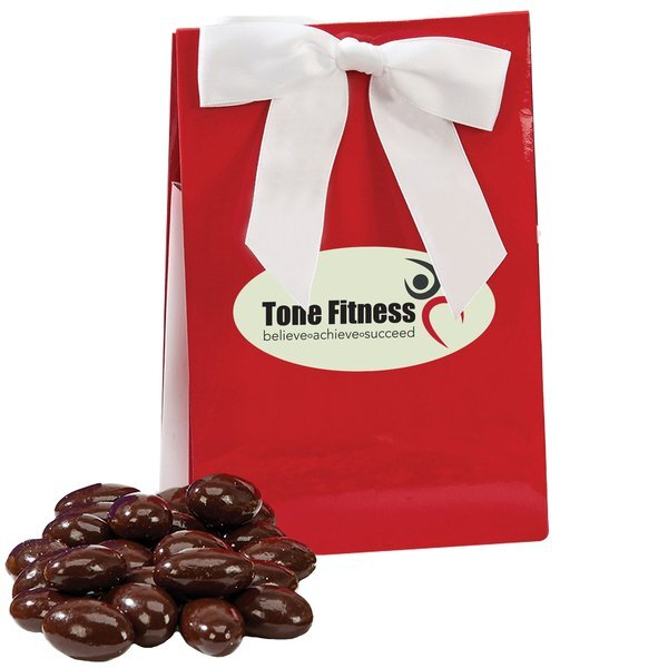 Chocolate Covered Almonds in a Gala Box