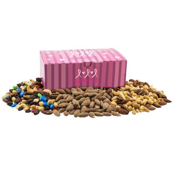 Trail Mix, Almonds, & Mixed Nuts in a Large Chest Box