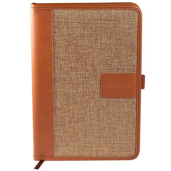 "Sierra™ Linen Leather Accent Journal, 8-3/4"" x 5-9/10"""