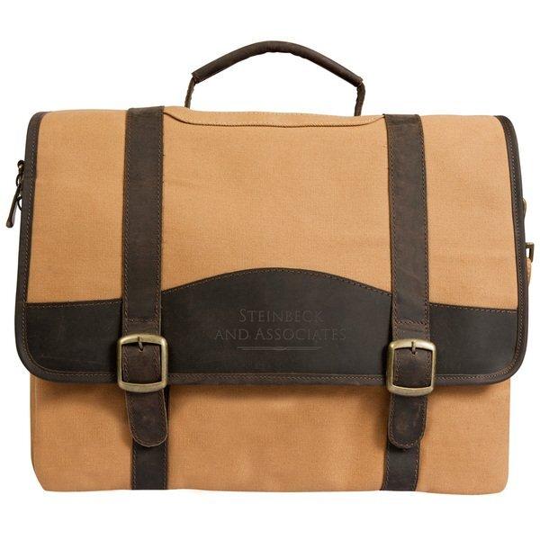 Elk Valley Leather & Canvas Computer Briefcase
