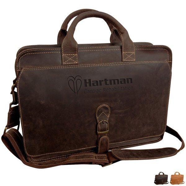 Texas Canyon Leather Briefcase