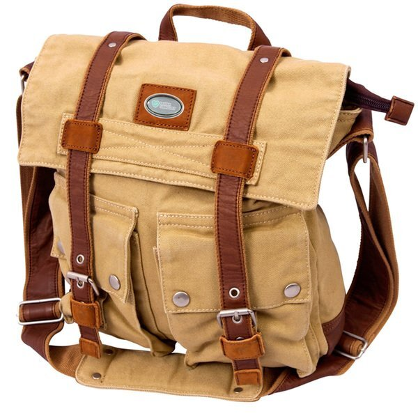 Grady Large Canvas Messenger Bag