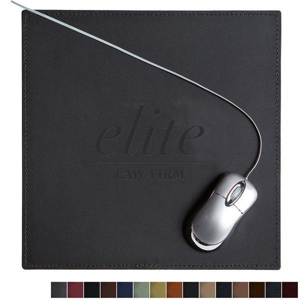 "Square Leather Executive Mouse Pad, 9"" x 9"""
