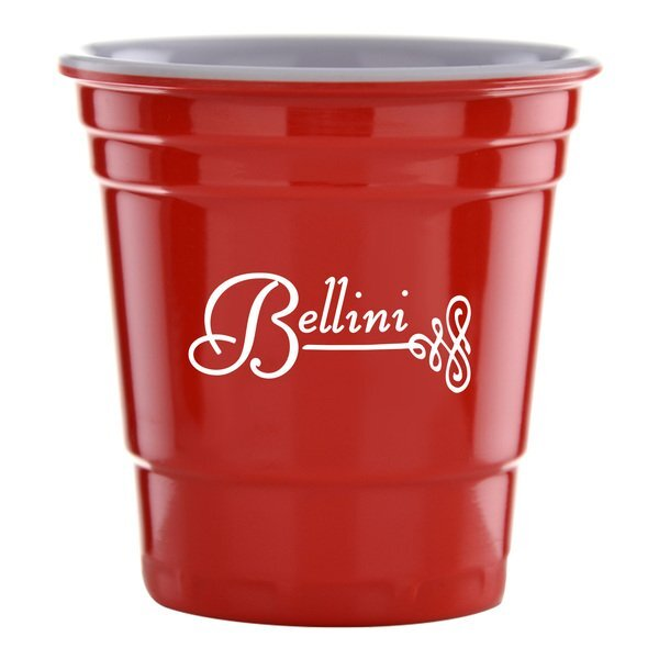 Red Fill Up Cup Shot Glass, 2oz.