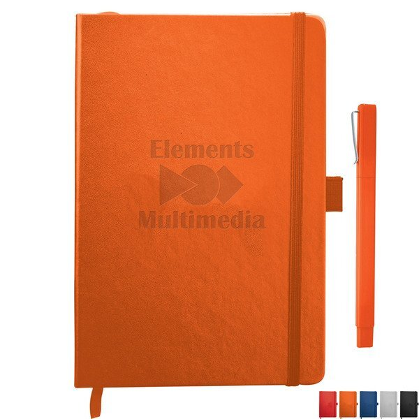 Nova Bound Hard Cover UltraHyde JournalBook™ & Ballpoint Pen Bundle Set