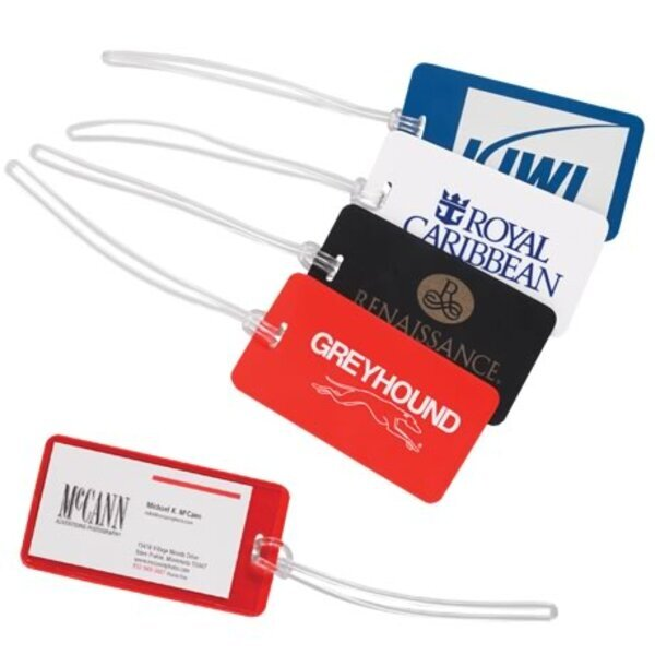 Plastic Luggage Bag Tag with Clear Back