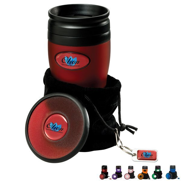 Soft Touch Tumbler & Coaster Gift Set, 16oz. w/ Full Color Imprint