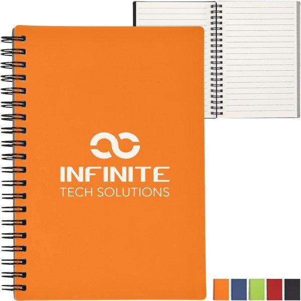 "Rubbery Spiral Notebook, 5"" X 7"""